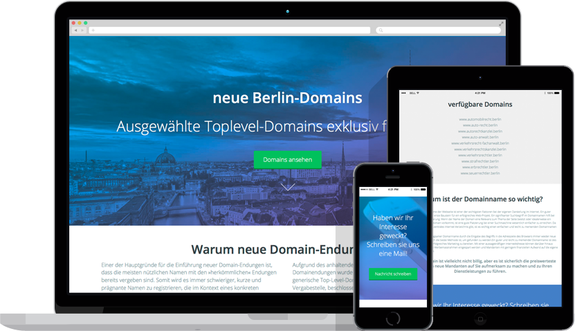 berlin domains devices